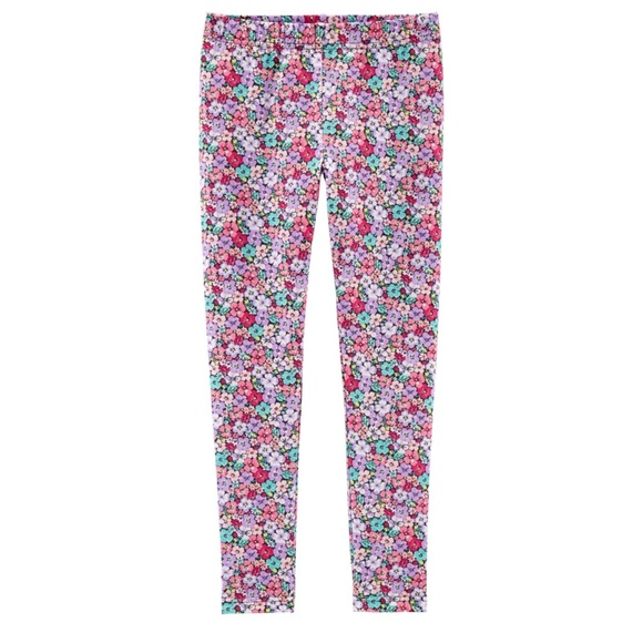 Carters Girls Baby 12 Months Set Lot Leggings Pink Floral NEW NWT